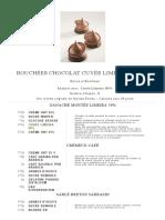 Recettes Chocolat de l'École Valrhona - Bouchées Chocolat Cuvée Limeira - Amapa _ Valrhona,