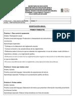 Dosificacion Anual Español Primero 2019-2020