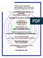 Informe de Practica Profesional Maria Dilma de Jessy Alejandra Murillo