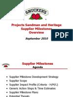 Supplier Milestones 2010-09