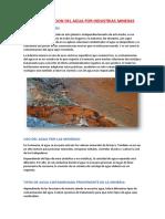Contaminacion Del Agua Por Industrias Mineras