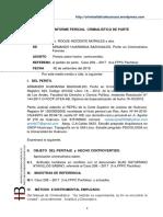 Caso 208 - 2017 1ra.fppcPachitea. Usurpación y Lesiones Leves. Dte. Roque Inocencio Morales. Imput. Blas Saturnino Atavillos Sabino