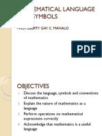 Mathematics language and symbols