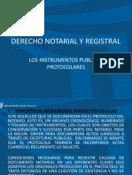 6. Los Instrumentos Públicos Protocolares