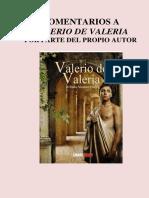 Comentarios a Valerio de Valeria