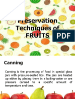 Preservation Techniques of Fruits