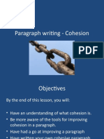 Cohesion in Paragraphs