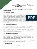 Python vs Scilab vs C