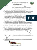 Physics Torque Quiz