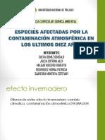 Especies Afectadas Por La Contaminación Atmosférica en Los