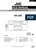 MX-J200 Service Manual