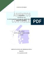 """""""""""ELABORAR ASIENTO CONTABLE DE APORTES DE CAPITAL PARA INICIAR UNA EMPRESA"""""""
