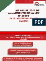 Ley 28803 Informe anual 2013