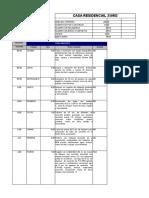 Catalogo de Conceptos Casa Residencial 2 Niveles 4 Integrantes