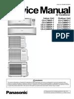 Panasonic Air Conditioner indoor unit CS-C24MKP-7 and outdoor unit  CU-C24MKP-7 Service Manual
