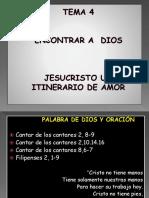 Tema 4 Jesus Un Intinerario de Amor