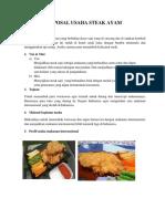 Proposal Usaha Steak Ayam
