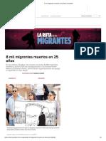 8 Mil Migrantes Muertos en 25 Años