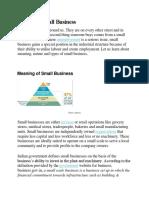 Narure Od Small Business