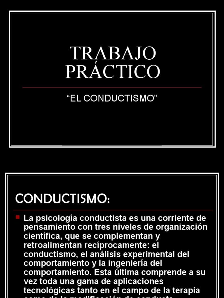 Teoría Conductual Conductismo Sicología Y Ciencia Cognitiva