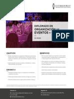 Brochure Diplomado Eventos y Catering 2019