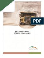 LB SS SSS SLB 0003 Codigo de Colores