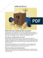 History of Cardboard Boxes