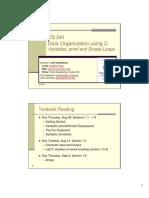 CS 241 Lecture 03 VariablesPrintfSimpleLoops