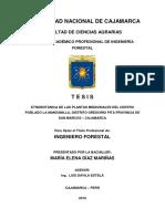 Etnobotánica de Las Plantas Medicinales Del Centro Poblado La Manzanilla, Distrito Gregorio Pita
