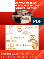 Do You Want to Be an Investor in Luxury Items?