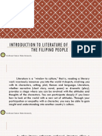 LIT 1 Introduction to Literature of the Filipino People
