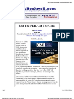 End the FED. Get the Gold. by Gary North