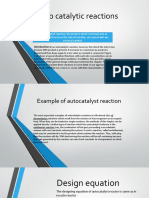 Auto Catalytic Reactions Presentation