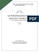 La Personalidad en La Adultez y Senectud