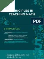 principle in teaching math