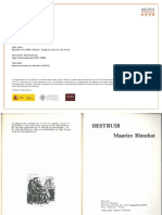 A. Blanchot Maurice- Detruire