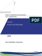 BKI Vol VI Rules for Welding (2019)