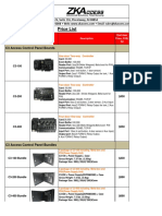 ZKAccess Price List