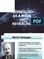 technology as a mode of revealing