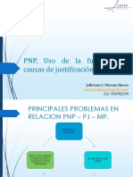 PNP Uso de La Fuerza y Causas de Justificacion