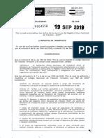Resolución No. 0004558 de 19 de Sep de 2019 RUNT