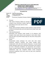 Telaahan Staf Pengadaan Emergency Medical Kit 2019