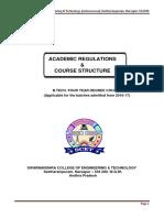 b.tech Mech Regulations & Course Structure 09-06-2016