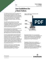 Product Bulletin Packing Selection Guidelines for Fisher Sliding Stem Valves en 123456