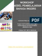 Workshop Model Pembelajaran_MGMP Bahasa Inggris SMP_MTs Kota Magelang