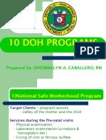274045834-10-DOH-programs-ppt.ppt