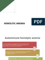 Hemolitic Anemia