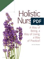 Holistic Nursing a Way of Being