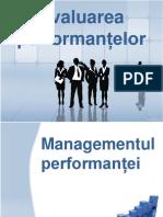 Evaluarea performantelor
