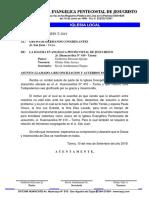 OFICIO de Reconciliacion